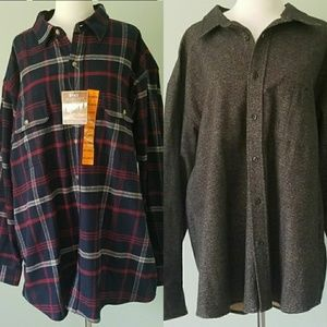 Cabela's Chamois 2X R & Moose Creek Flannel 2X